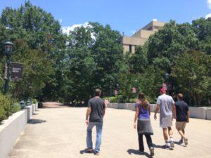 Tour no campus da University of South Carolina.